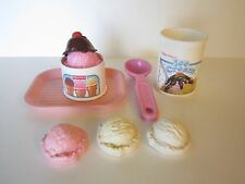 Vintage FISHER PRICE Pretend Play Food Ice Cream Accessories 80s and 90s
