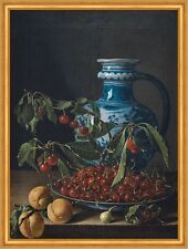 Still Life with fruit and Jug luis Eugenio Melendez cerezas frutas B a2 02839