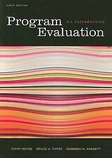 Social Work Research Methods / Writing / Evaluation: Program Evaluation : An In…