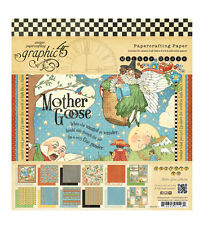 """Graphic 45 Mother Goose Scrapbook Paper Pad 12"""" Twinkle Humpty die cut BABY 24p"""