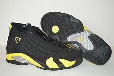 NIKE AIR JORDAN 14 RETRO THUNDER MENS SHOES SIZE US 10.5 BLACK YELLOW 487471-070