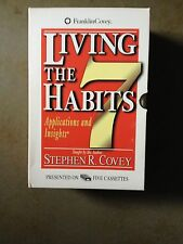 Living the Seven Habits by Stephen R. Covey - 5 audio cassettes with booklet