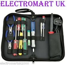 ELECTRONICS TOOL KIT SOLDERING IRON SOLDER PUMP VOLTAGE DETECTOR