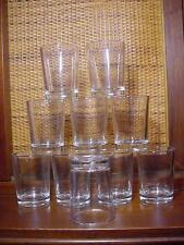 10 Vintage Anchor Hocking Clear 3 oz Heavy Glass Juice Wine Glasses Drinking