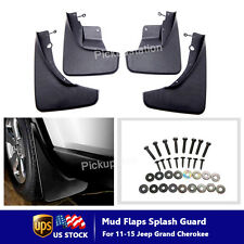 Mud Flaps Splash Guards For 11-15 Jeep Grand Cherokee Black Composite 4PCS New