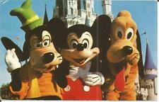 ag(J) Kissimmee, FL: Goofy, Mickey and Pluto in front of Cinderella's Castle