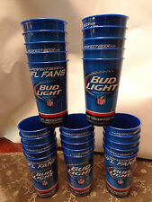 25 Bud Light NFL Heavy Duty Plastic Beer Cups Budweiser Super Bowl Party Favor