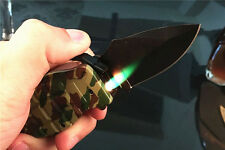 Multi Windproof Refillable Butane Gas Camouflage Cigarette Lighter Folding Knife