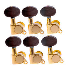 6R Acoustic Guitar String Tuning Pegs Tuners Keys Machine Heads Gold Amber Brown