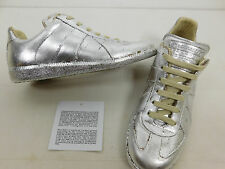MAISON MARTIN MARGIELA Gilded Silver Sneakers size 41 Mens Italy 8 US Rare Foil