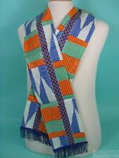 New Agape KENTE Lapel African Robe Scarf 100% Cotton Handmade Church Choir Sash