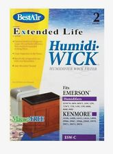 2pk New BEST AIR ESW-C Humidiwick Humidifier Wick Filter Kenmore Emerson Sears