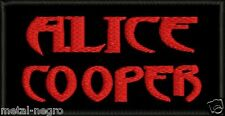 ALICE COOPER EMBROIDERED PATCH RED LOGO CLASSIC HEAVY ROCK KISS Metal Negro