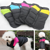 Waterproof Pet Dog Puppy Coat Jacket Winter Quilted Padded Puffer