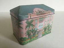 VINTAGE ROYAL HAWAIIAN HOTEL METAL TEA TIN CONTAINER BOX & LID MADE IN ENGLAND