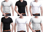 Mens Slim Fit V-neck/ Crew neck T-shirt Tops Short Sleeve Muscle Tee Basic T wea