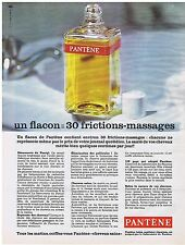 PUBLICITE ADVERTISING 054 1965 PANTENE 1 flacon 30 frictions-massages lotion