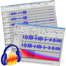DJ MUSIC AUDIO EDITOR SOUND RECORD ENHANCE MIXER SOFTWARE SUITE!