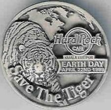 "Hard Rock Cafe KUALA LUMPUR 1999 EARTH DAY PIN - ""Save The Tiger"" - HRC #4293"