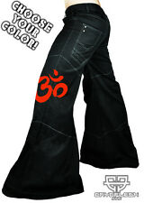 Cryoflesh OM Buddhist Cyber Goth Punk Rave EDC Tactical EBM Mens Phat Pants