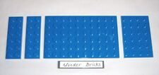 Lego Blue Plates 6x10, 6x4, 6x2 Sea River Water 6242