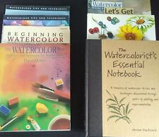 Lot of 7 Watercolor Instructions Search Press Landscapes Tips Books Magazines
