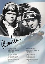 Hans Rinn (DDR) 3.OS Innsbruck 1976 Rennrodeln original signiert/signed !!!