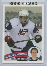 2015 Auston Matthews Hot Shot Centres Tean USA Rookie Card RC Mint (Maple Leafs)