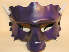 Purple Dragon Mask Handmade Leather Venetian Masquerade
