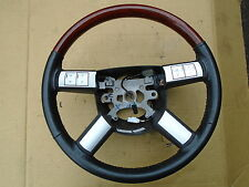 CHRYSLER 300C 2005-2010 LEATHER WOOD STEERING WHEEL  #CH149