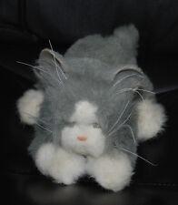 "Tiger Electronics Grey Cat Kitten Battery Operated Stuffed Animal 12"" Plush Toy"