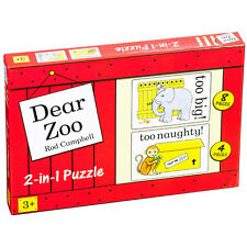 Dear Zoo 2 In A Box 1x 4 Piece 1x 8 Piece Jigsaw Puzzle