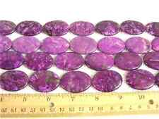 Sugilite beads 30x20x6mm flat oval style15 inch strand 13 beads for stringing