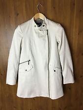 BEN DE LISI by PRINCIPLES BIKER TRENCH COAT Mac Jacket Cream Beige UK 8 / EUR 36