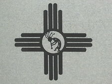 "Large 24"" Southwest ZIA Sun with Kokopelli Wood Wall Art Decor"