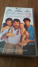 THREE MEN AND A BABY - TOM SELLECK, TED DANSON - VHS VIDEO