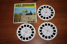 3 Vintage Viewmaster Reels of Gold Jerusalem Israel Travel Views Holy Land