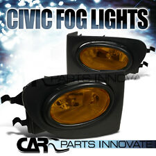 For 02-05 Honda Civic Si 3Dr Hatchback EP3 Yellow Bumper Fog Lights+Switch