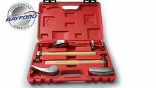 HAMMER & DOLLY SET 6 PCE PREMIUM PANEL BEATING KIT HICKORY HANDLES