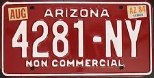 Original Nummernschild USA Arizona 1984 plaque d'immatriculation TARGA Canyon