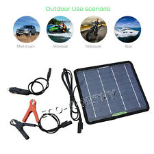 12V 5W Portable Solar Panel Power Battery Charger Backup For Camper Hiking Car