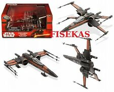 Disney Store Star Wars Poe's  X-Wing Fighter Black Die Cast Vehicle 2015 NEW
