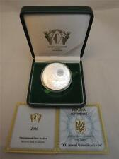 UKRAINE 1oz SILVER COIN XXI Olympic Winter Games 2010 Vancouver Canada +COA +BOX