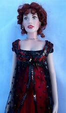 TITANIC ROSE THE OFFICIAL VINYL PORTRAIT DOLL FRANKLIN MINT JUMP DRESS