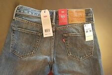 NWT LEVI'S 511 Slim Fit Distressed Jeans 30/ 32 Holes, Patch, & Stitching $98.00