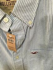HOLLISTER by Abercrombie mens Blue Pinstripe M Soft NWT button-down was $49.50