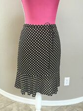 City DKNY Silk Skirt Size 2 Fitted Ruffled Black