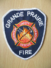Patches: GRANDE PRAIRIE FIRE & RESCUE DEPARTMENT PATCH (New, approx.4x3.6)