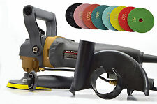 "Professional Variable Speed Wet Stone Polisher Grinder 4"" Kit Granite Marble 110"