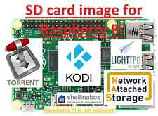 Raspberry Pi (Zero/B/B+/2/3) SD Card image: Kodi Media Center,Torrent Server,NAS